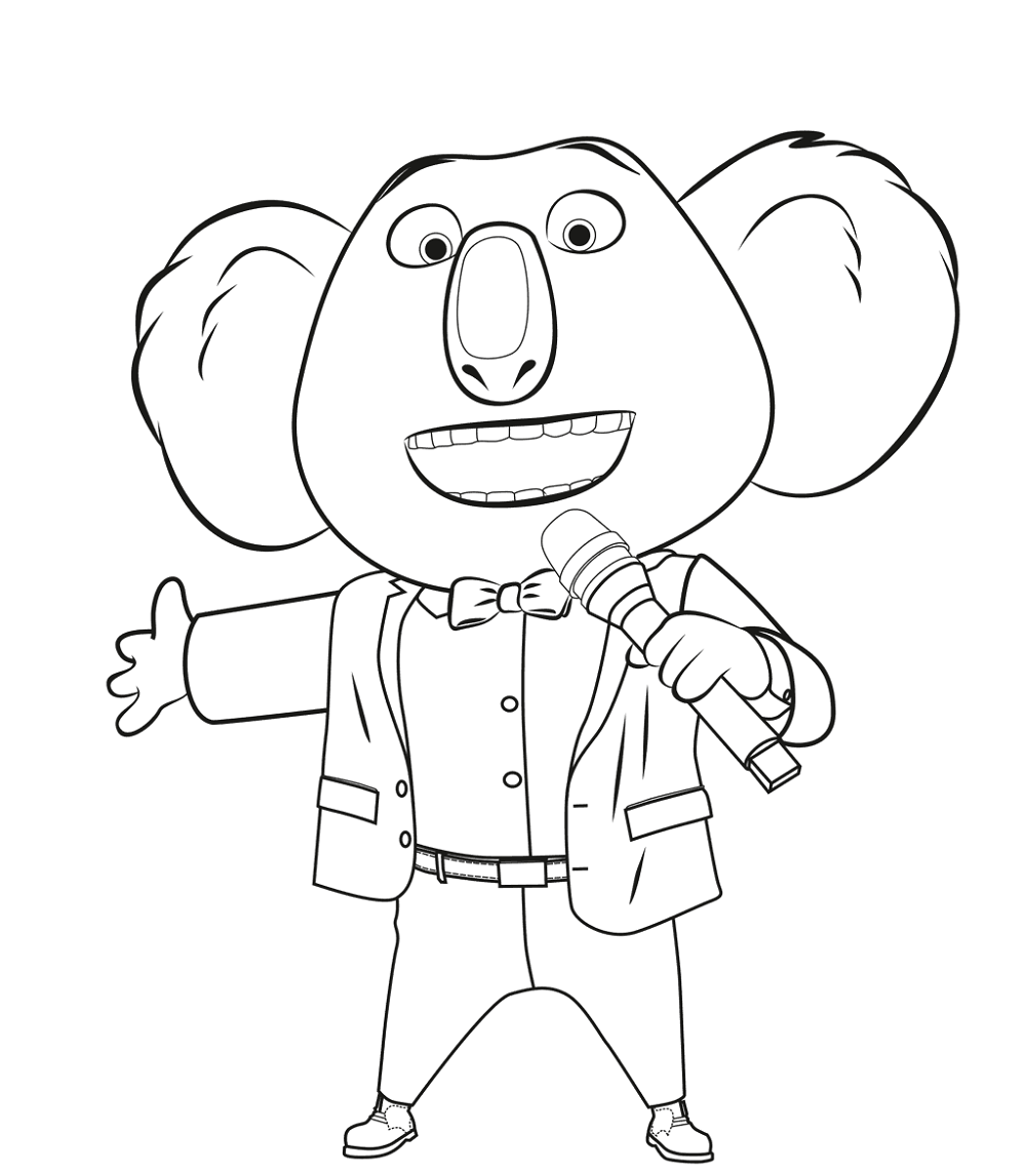 sing coloring pages 5