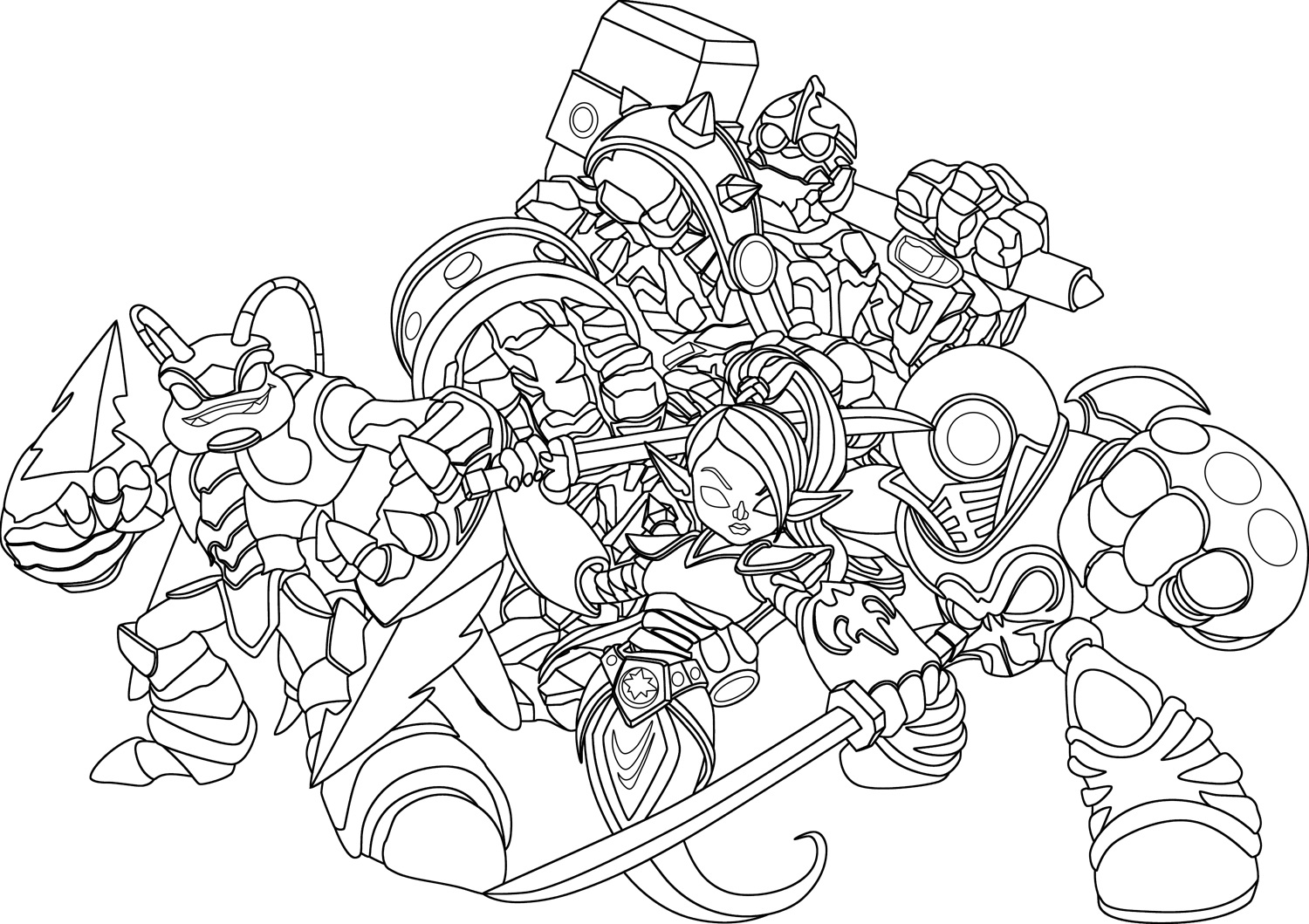 skylanders coloring pages 1