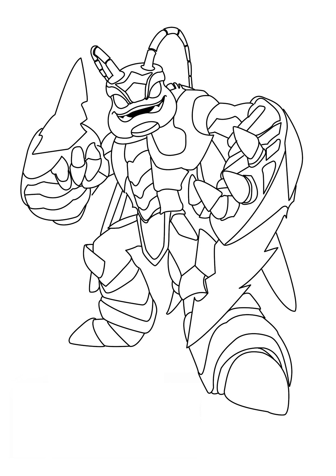 skylanders coloring pages 2