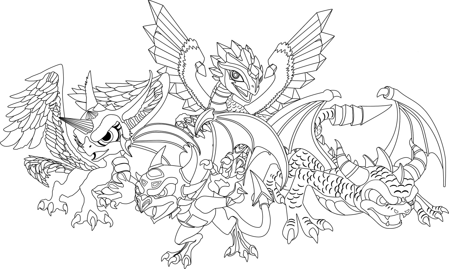 skylanders coloring pages 3