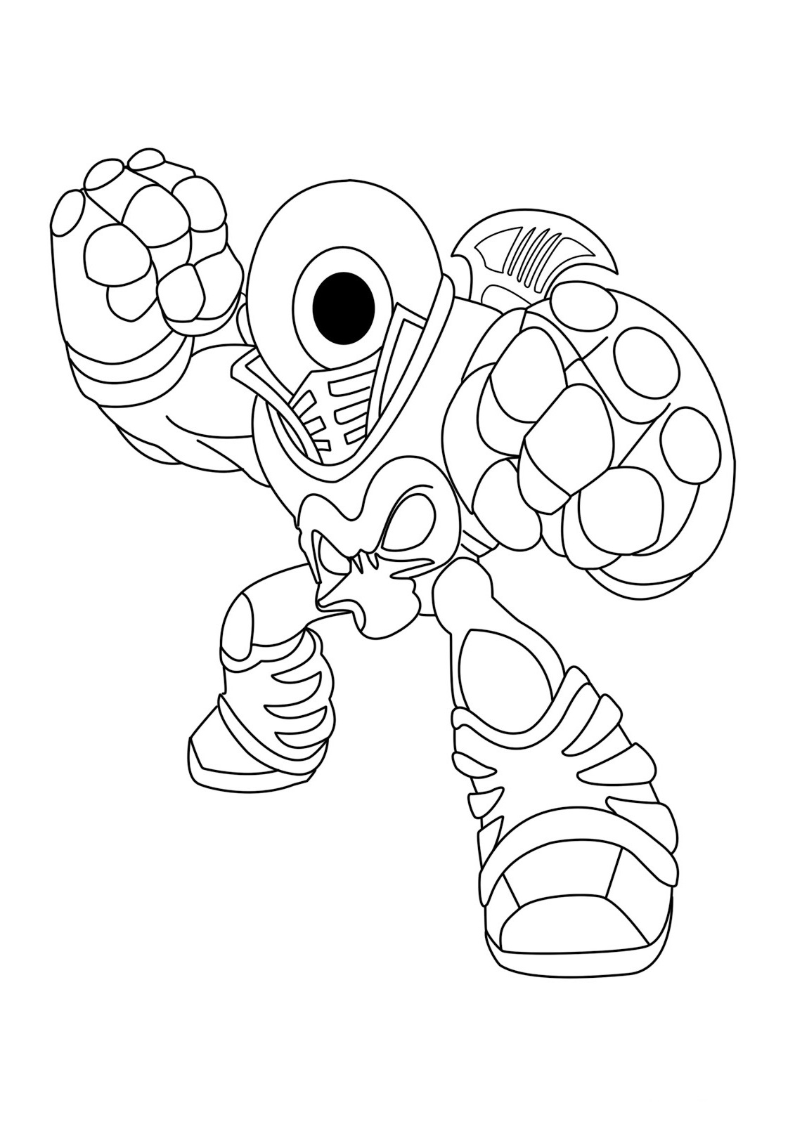 skylanders coloring pages 4