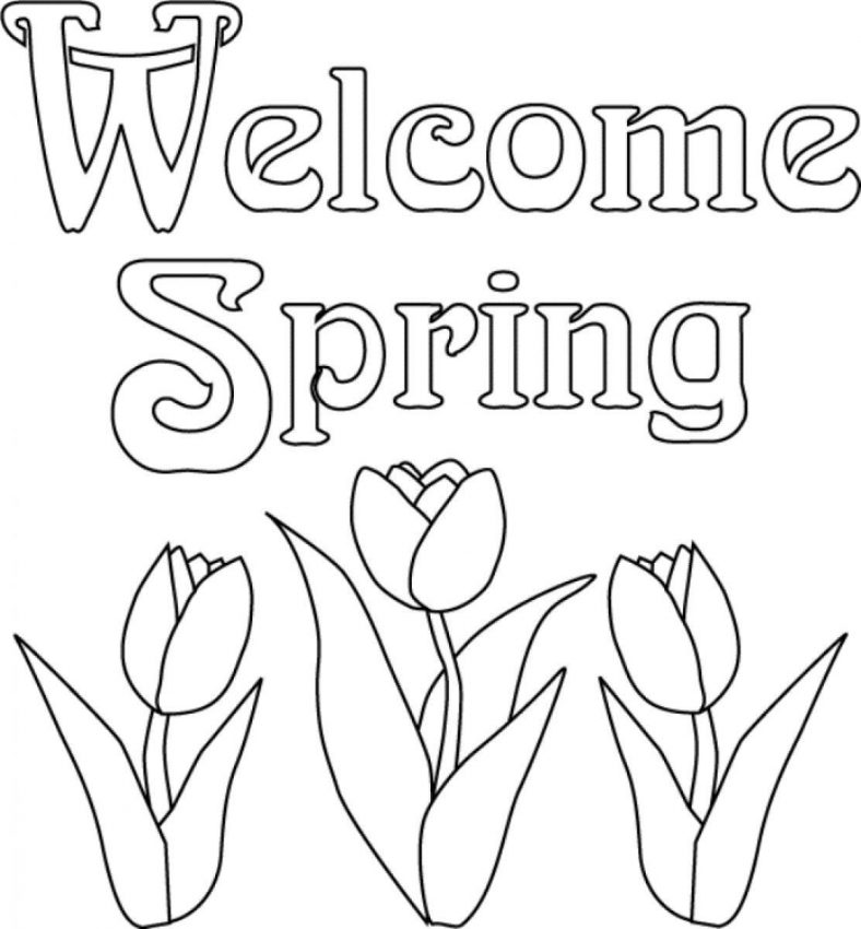 spring coloring pages 1