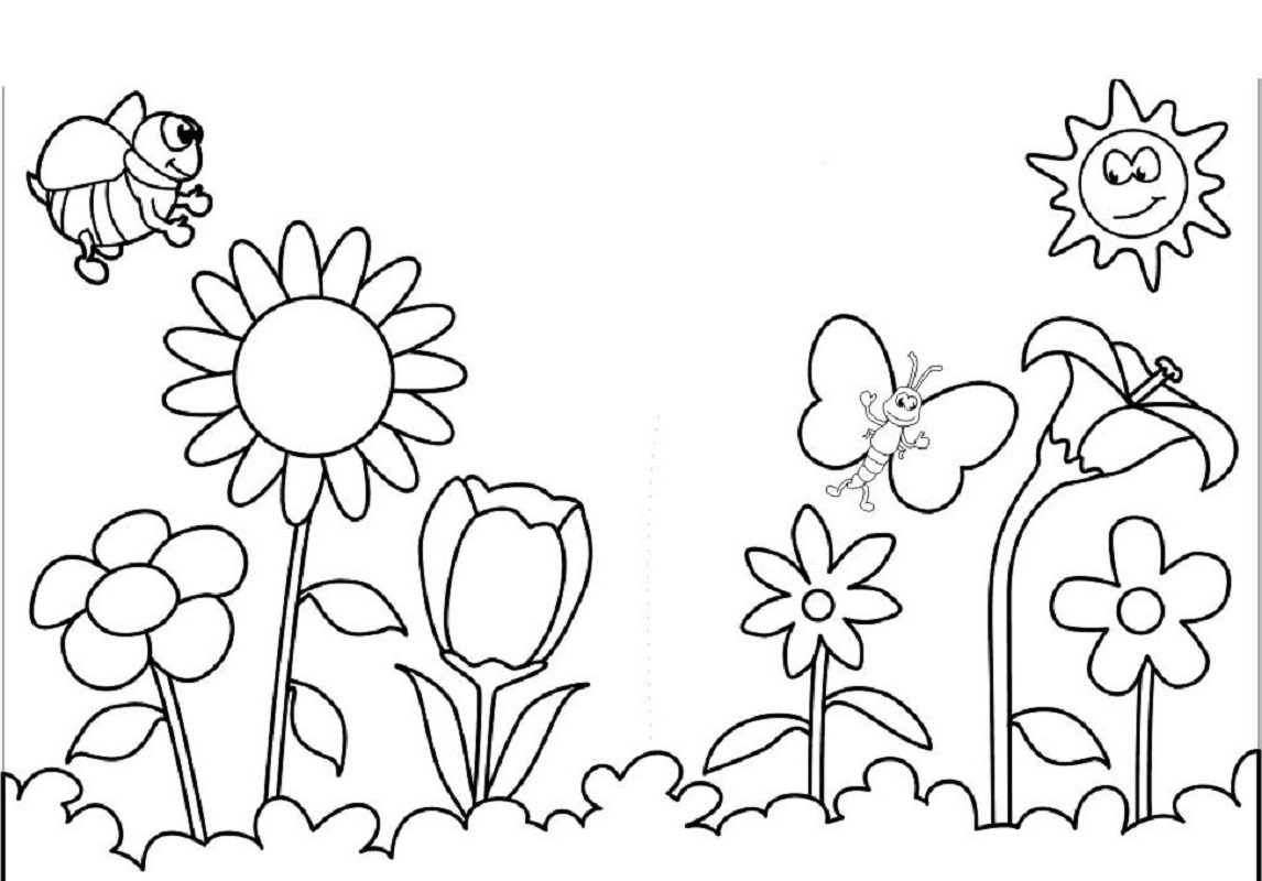 spring coloring pages 5