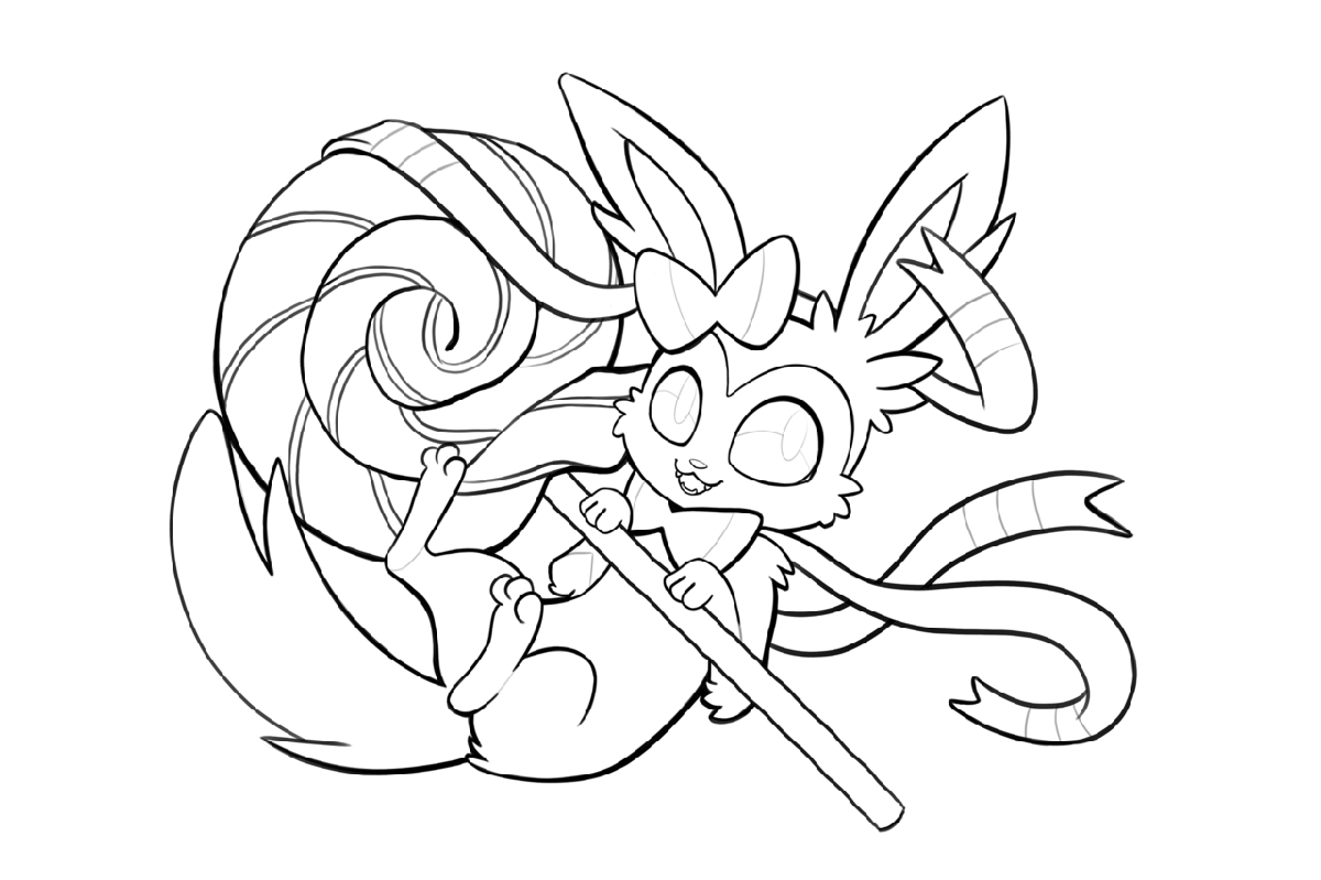 sylveon coloring pages 2