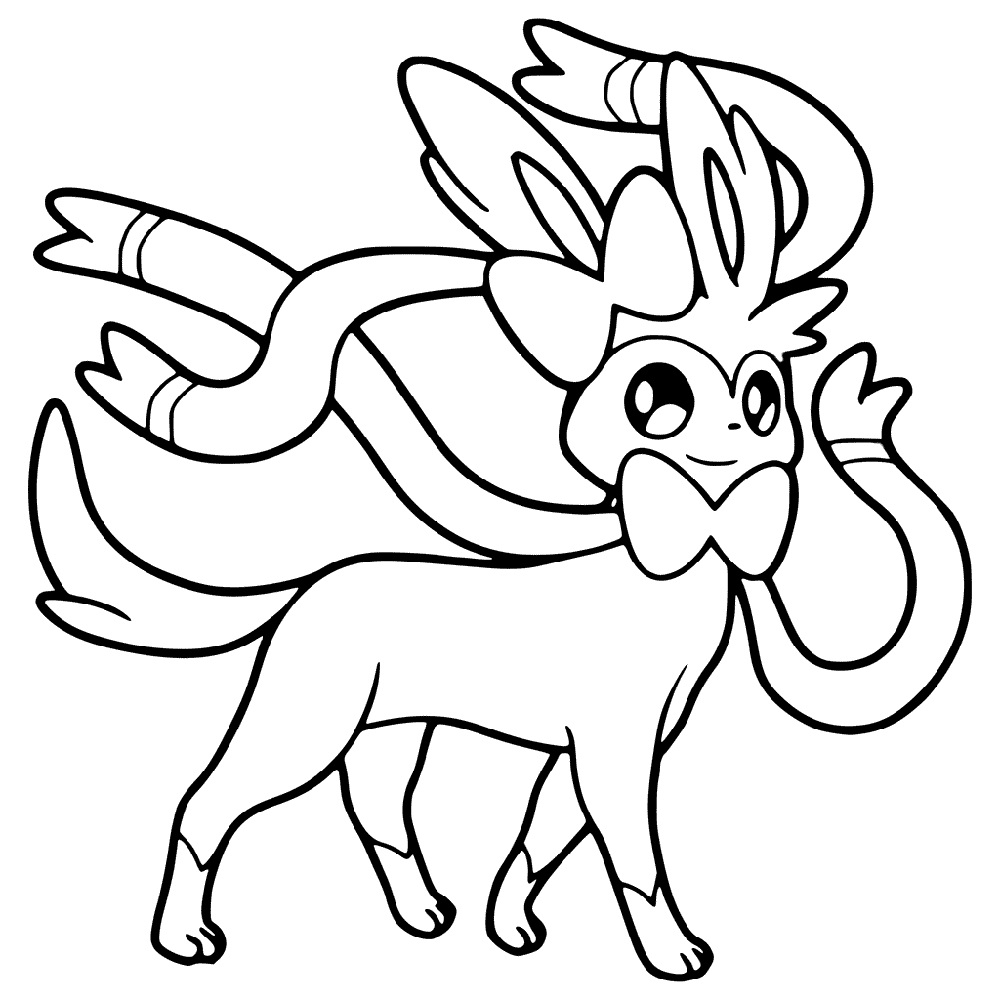 sylveon coloring pages 3