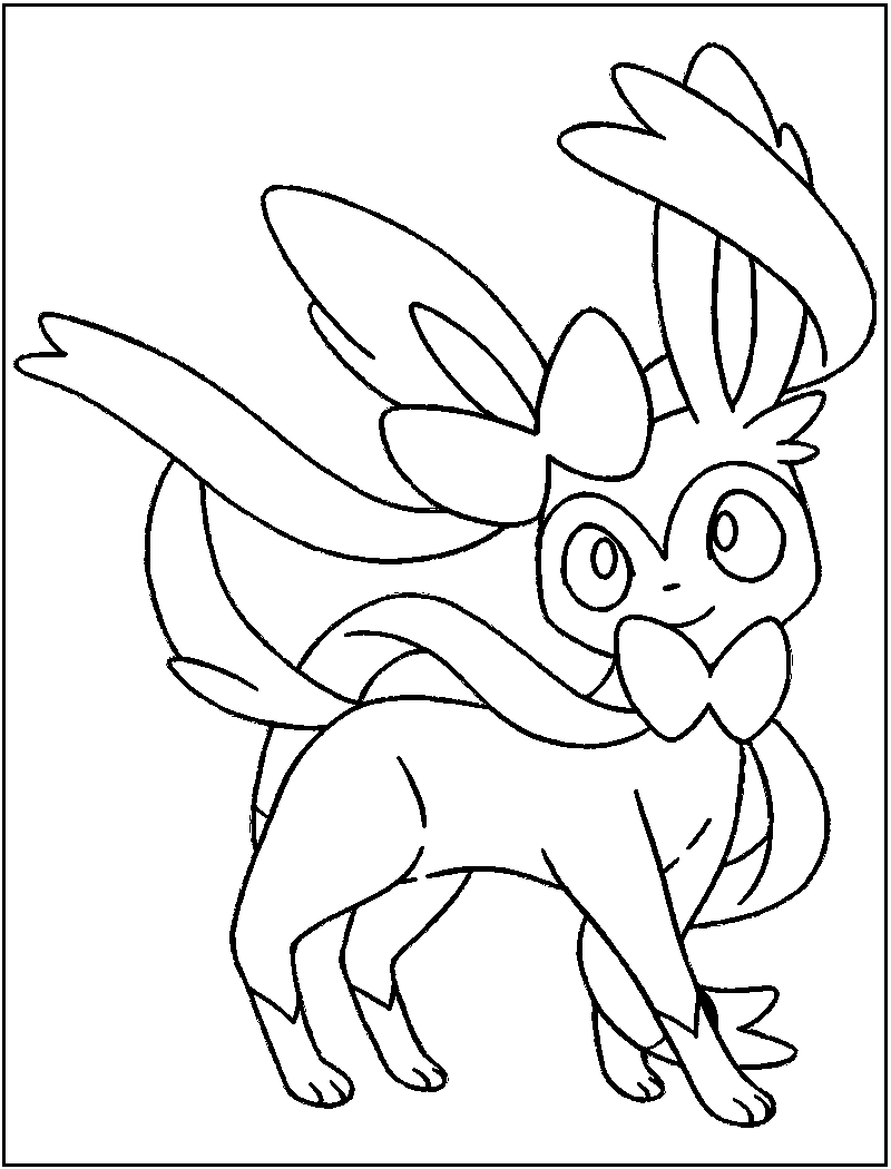 sylveon coloring pages 4