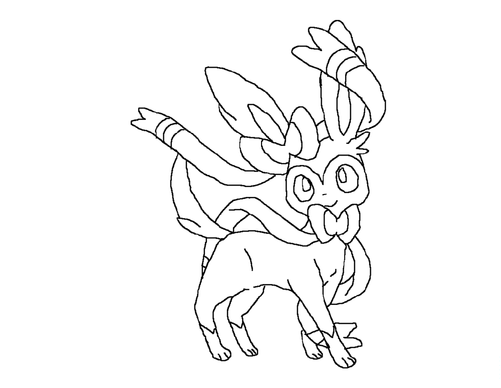 sylveon coloring pages 5
