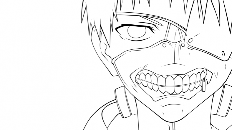 tokyo ghoul coloring pages 1