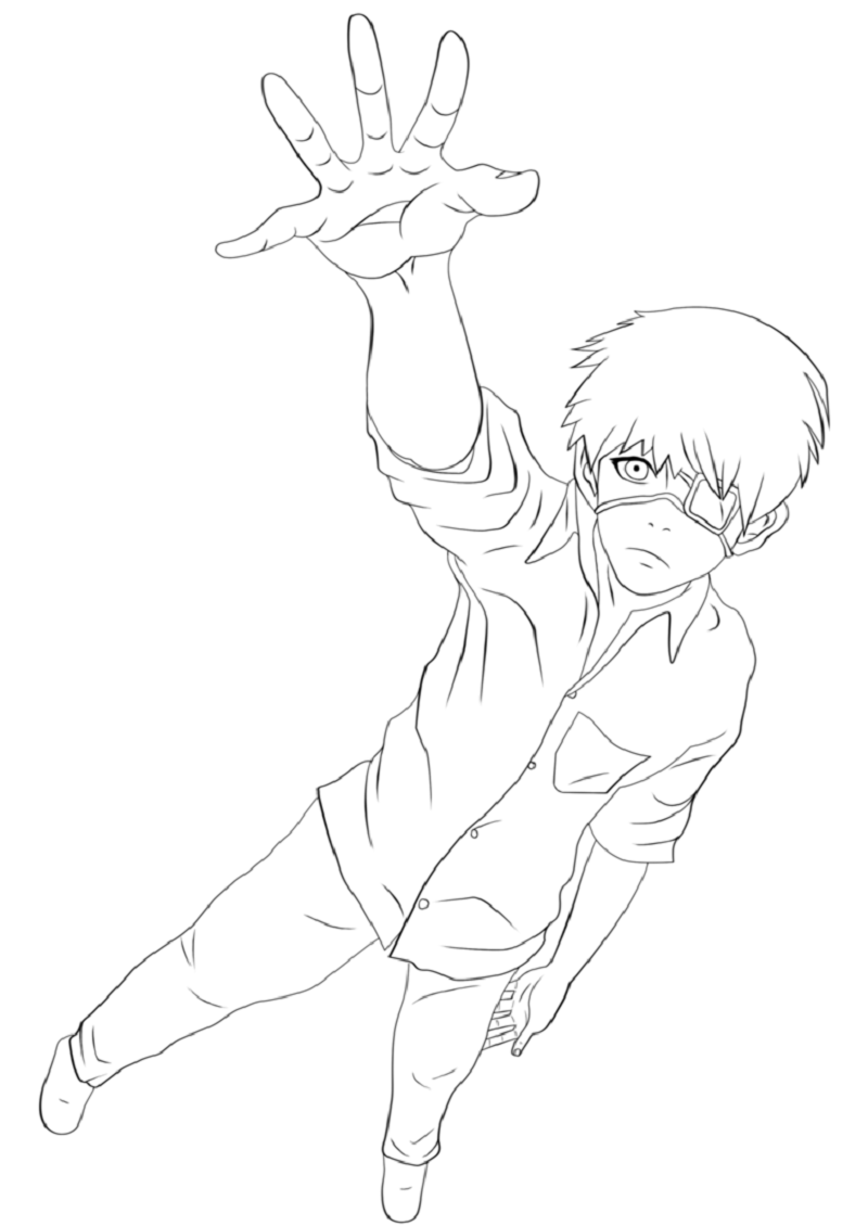 tokyo ghoul coloring pages 3