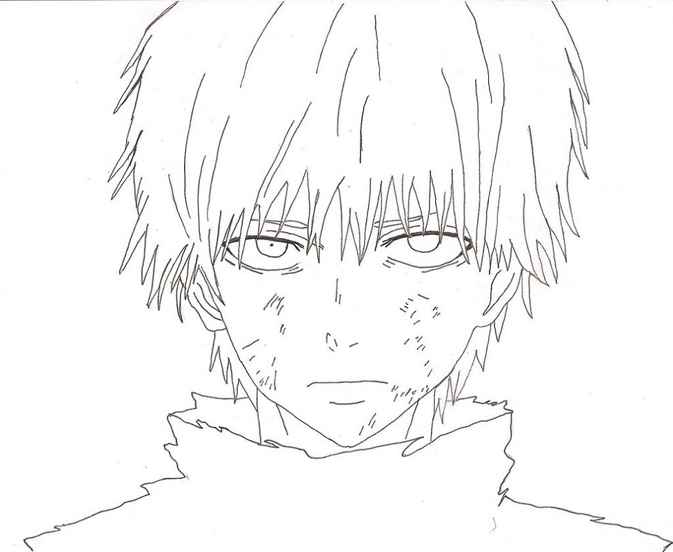 tokyo ghoul coloring pages 4