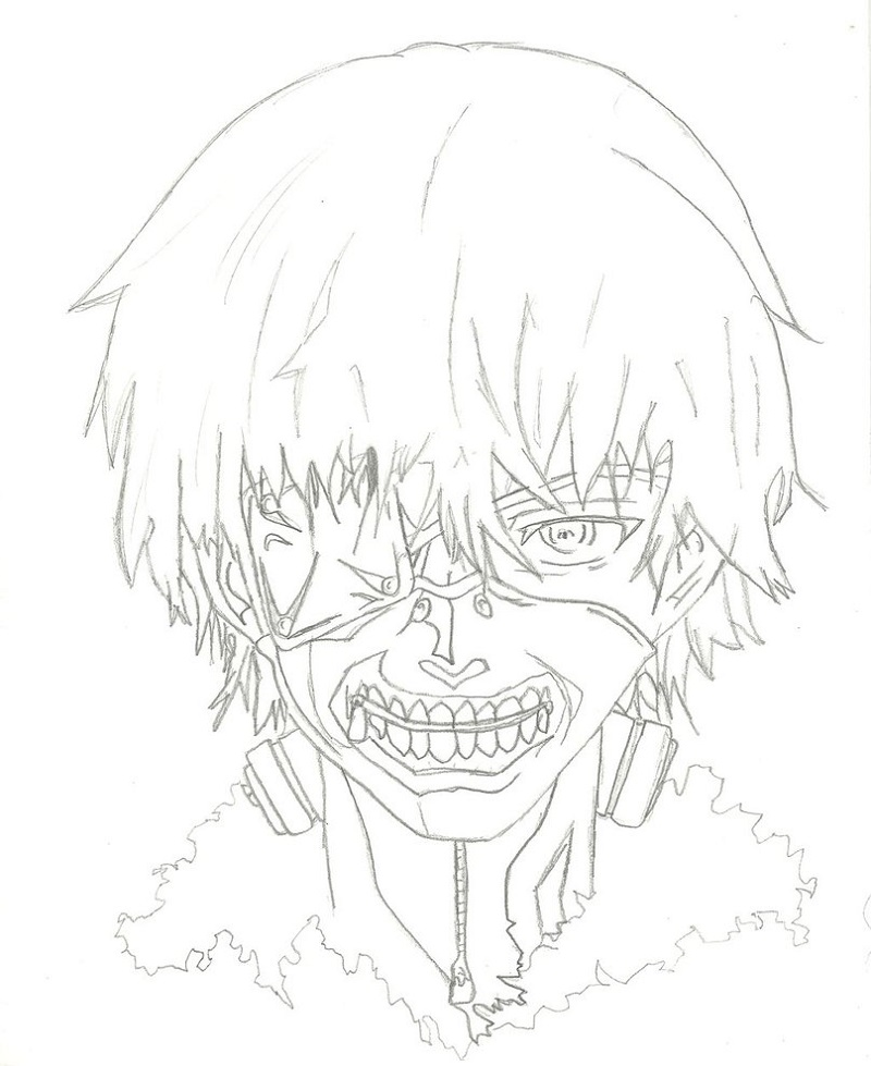 tokyo ghoul coloring pages 5
