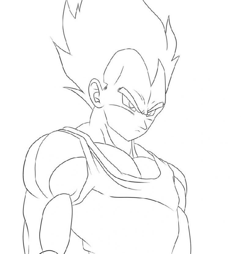 vegeta coloring pages 1