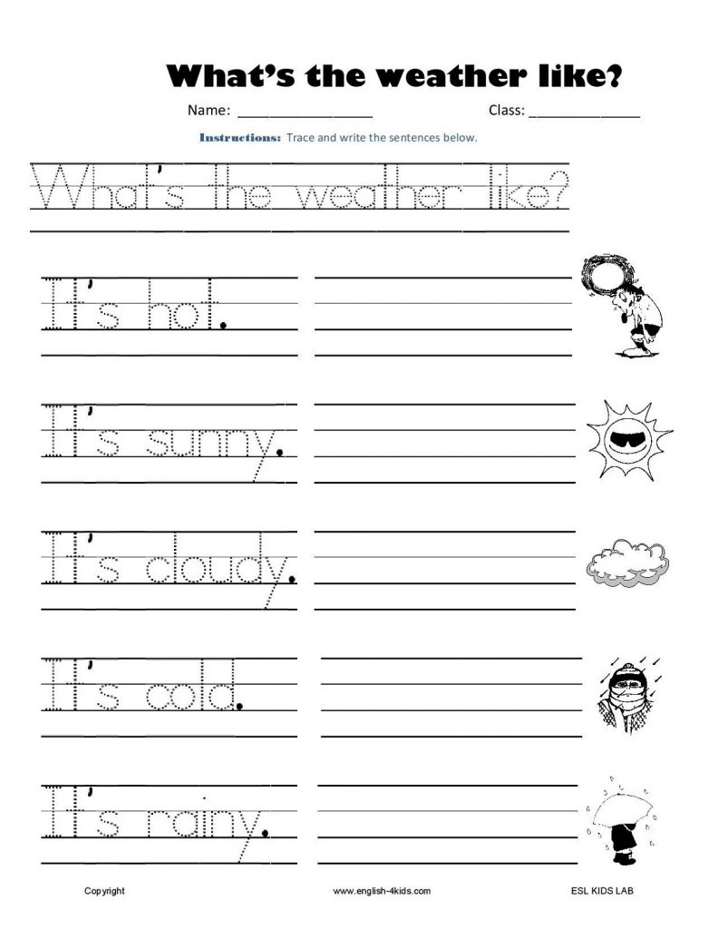 Free Printable Learning Worksheets Writing