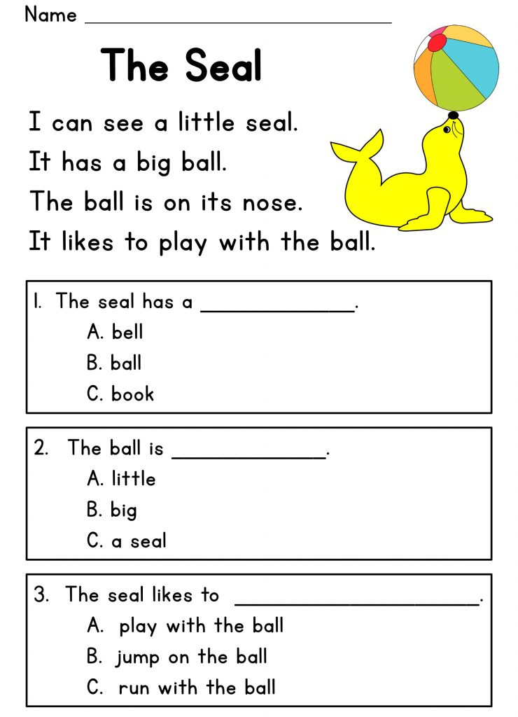 Free Printable Worksheets For 5 Year Olds Reading