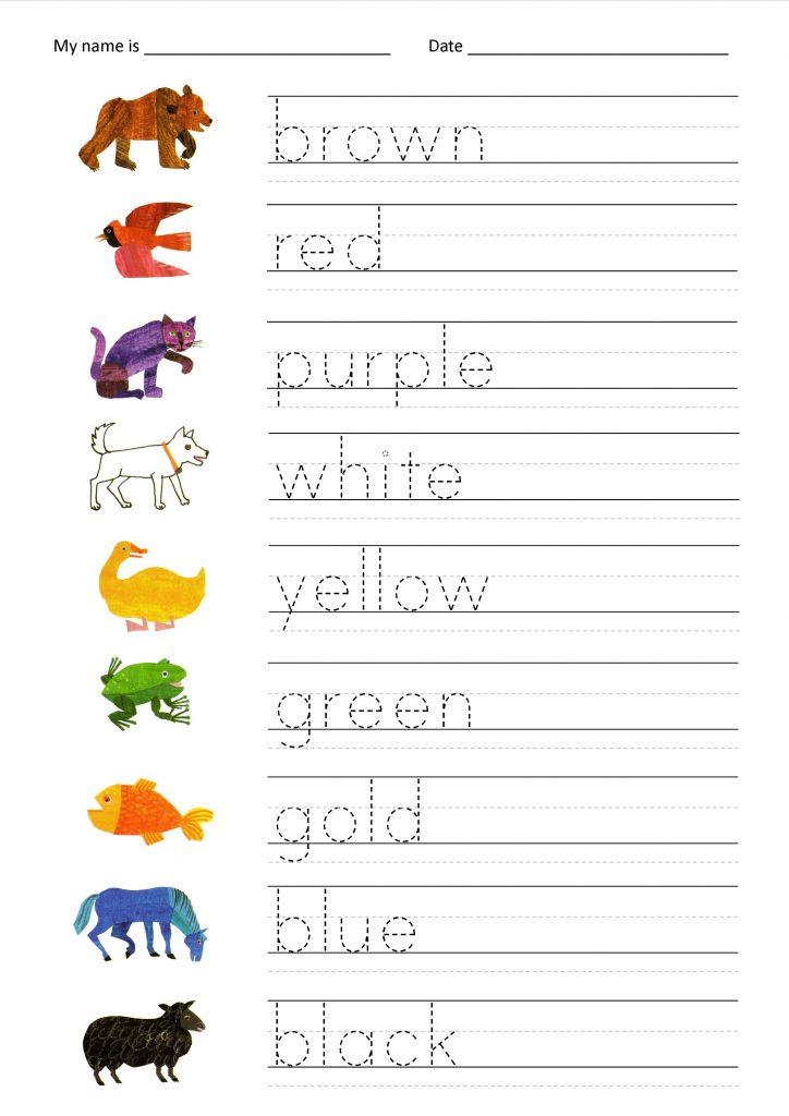 Free Printable Fun Worksheets Colors